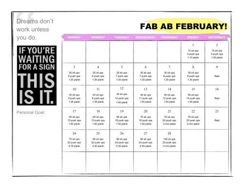 fab ab february calendar